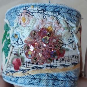 Handmade Upcycled Boho Cuff Bracelet